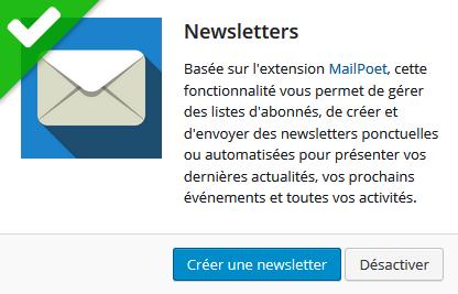 Fonctionnalités avancées-newsletter
