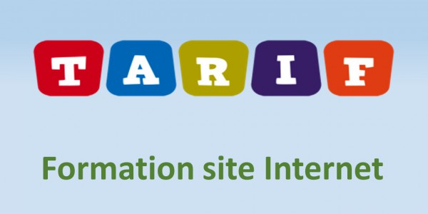 Tarifs Formation site internet