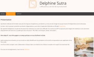 Delphine SUTRA – secrétaire externalisée